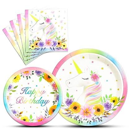 WERNNSAI Unicornio Suministros para Fiesta de Cumpleaños ...