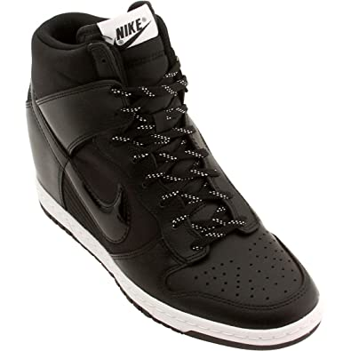 b107ac91d209 Nike Dunk SKY Hi Essential Womens Basketball Shoes 644877-008 Black Black-White  11