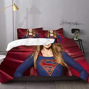Amazon.com: Bedding Set for Kids Supergirl Season 2 Queen ...