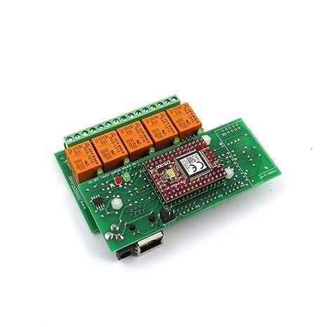 Amazon.com: Canal de Ethernet Tarjeta de relé 5 con ...