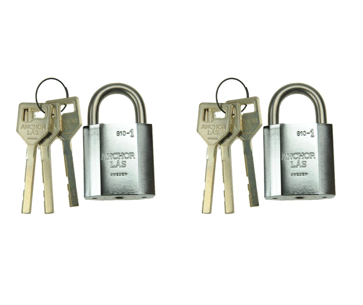 Combo Set of 2 Anchor Las Keyed Different Padlocks by Anchor Las