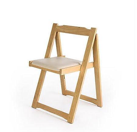 silla plegable Sillas de madera plegables Silla de comedor de ...
