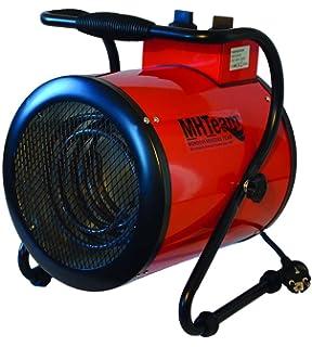 Mhteam-Eh4-09 - Calefactor profesional trifásico, 9000 W, color rojo