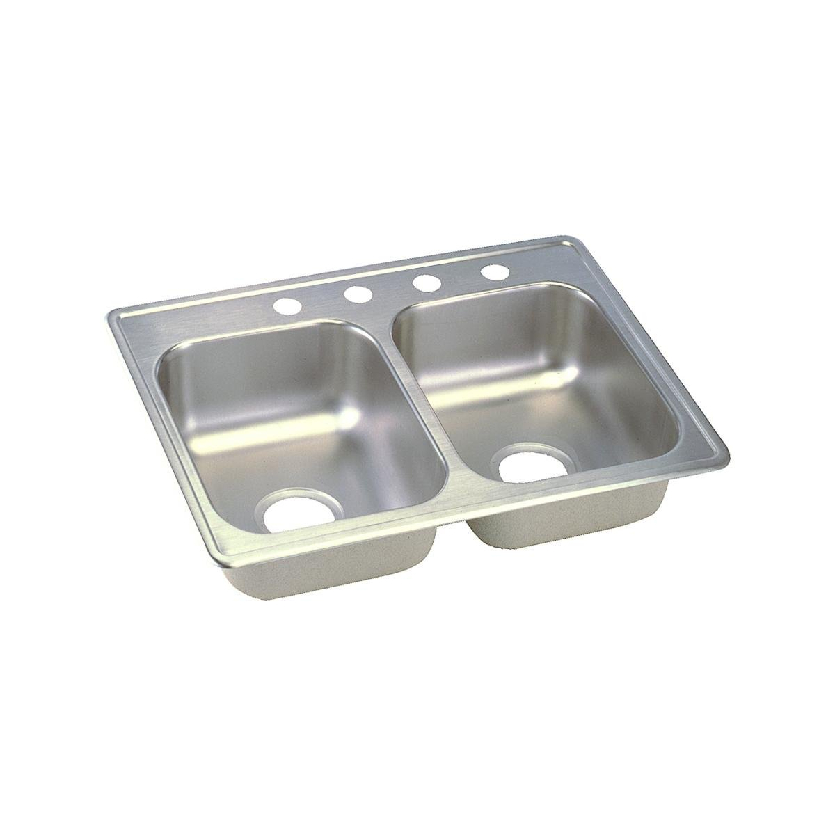 Dayton D225194 Equal Double Bowl Top Mount Stainless Steel Sink by Elkay