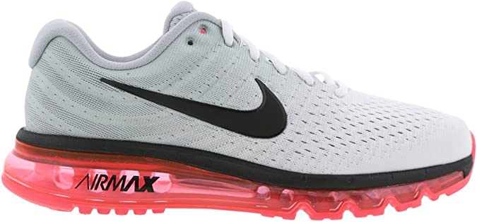 Nike Air Max 2017 Hombre Zapatillas Para Correr - BLANCO/Black/Wolf Grey, 44: Amazon.es: Zapatos y complementos