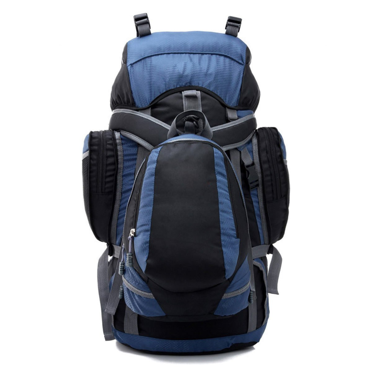 Große Kapazitäten Wasserdichte Bergsteigen Outdoor Camping Hinten Gehen Schultern Brötchen Taschen Taschen Stahl Rahmen Zelt Taschen,Blau