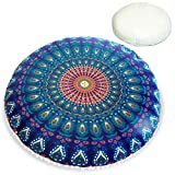 Mandala Life ART Bohemian Decor Floor Cushion - Insert Included - 30