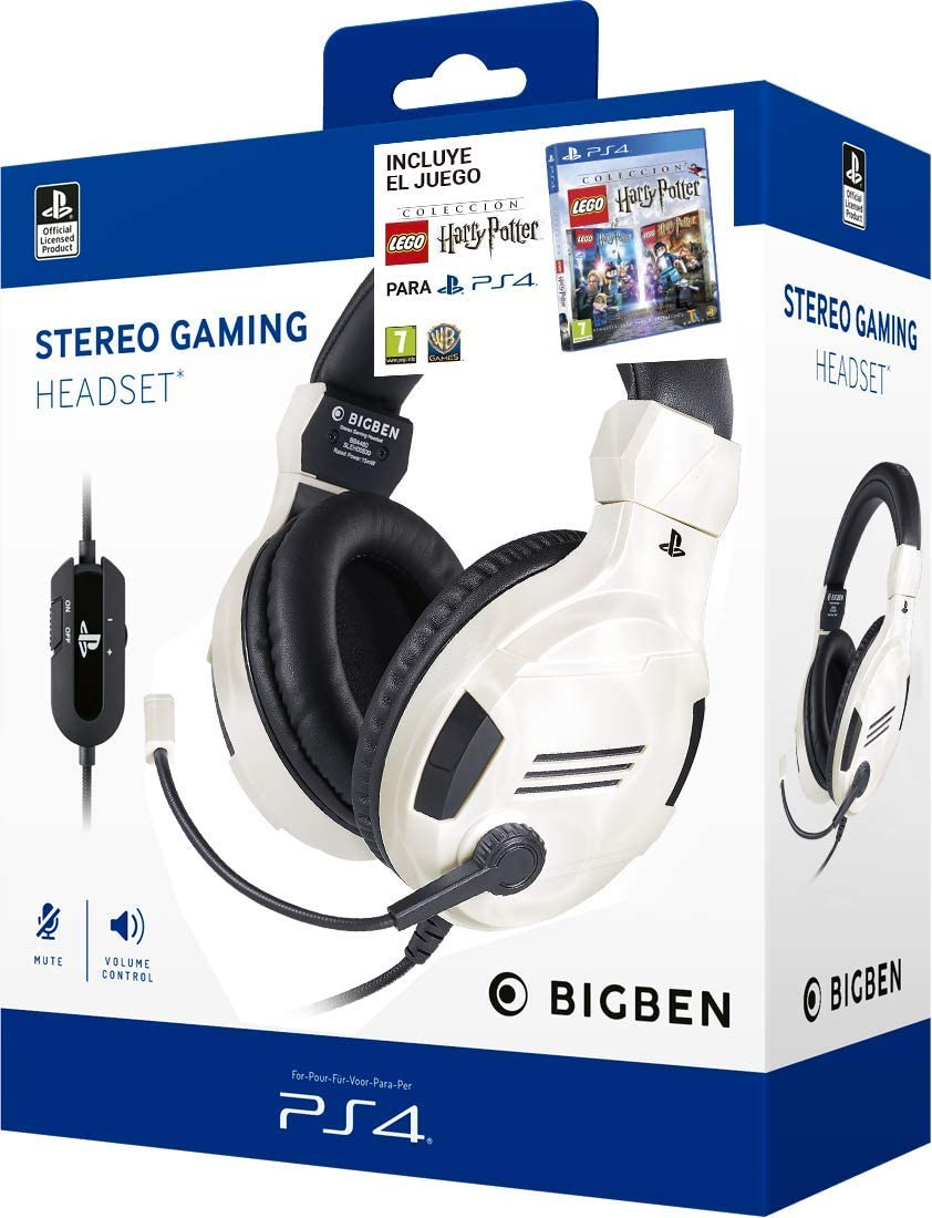 Pack Lego Harry Potter PS4 + Auriculares PS4 Headset v3 Blanco ...