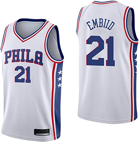 Camiseta Sin Mangas Blanca De Baloncesto Para Hombre - Filadelfia ...