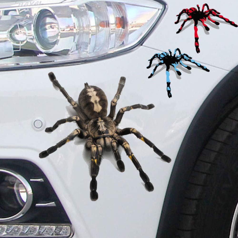 3D Lifelike Spider Car Stickers Decals Car Reflective Terror Spider Car Stickers For BMW Audi Ford Volkswagen Toyota Stickers xj