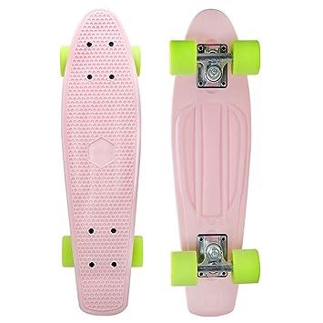 1-1 Skateboards 4 Ruedas ásperas Patinetas por para niños Principiante Pizarra Completa Patineta Calle al Aire Libre,I: Amazon.es: Deportes y aire libre