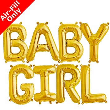 Baby Shower Letter Balloons.Baby Girl Foil Letter Balloons Baby Shower Gold Silver Gold 3d Banner Baby Gender Reveal Parties Decorations Gold