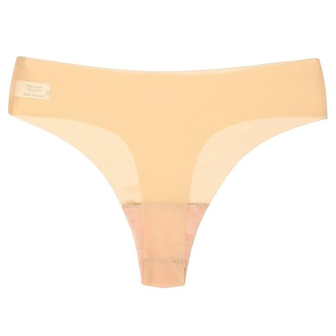 a543a943a4987b Justgoo Women's Sexy Sheer Panties Thongs Mesh G-Strings Low Rise Brief  Underwear Apricot
