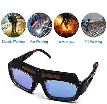 DZW Solar Powered Auto oscurecimiento Soldadura Gafas con 2 Hojas de protección, Anti-Reflejos para Proteger Sus Ojos: Amazon.es: Deportes y aire libre