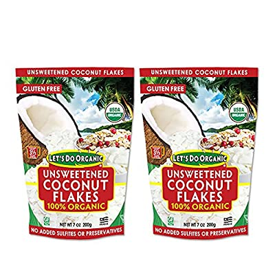 Let's Do Organic Unsweetened Shredded Coconut (Pack of 2)