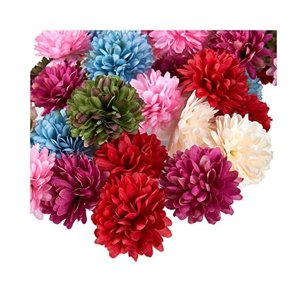 Juvale-Artificial-Flower-Heads-60-Pack-Fake-Fabric-Flowers-for-Wedding-Decorations-Baby-Showers-DIY-Crafts-Multiple-Colors
