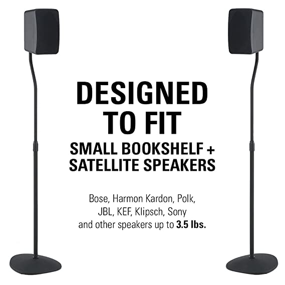 Sanus Adjustable Height Speaker Stand - Extends 28