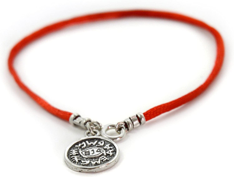 Amuleto contra el mal de ojo en pulsera de color rojo para chico