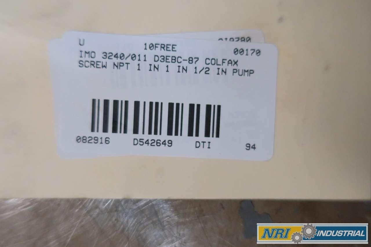 IMO 3240/011 D3EBC-87 COLFAX 1 IN NPT SCREW PUMP D542649: Amazon com