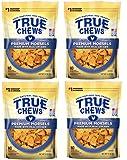 True Chews Dog Treats Premium Chicken Jerky Morsels 10 oz Made in USA (4 Packs)