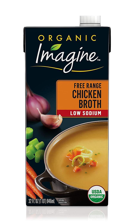 Imagine Organic Kosher Chicken Broth, Low Sodium, 32 oz by Imagine Foods