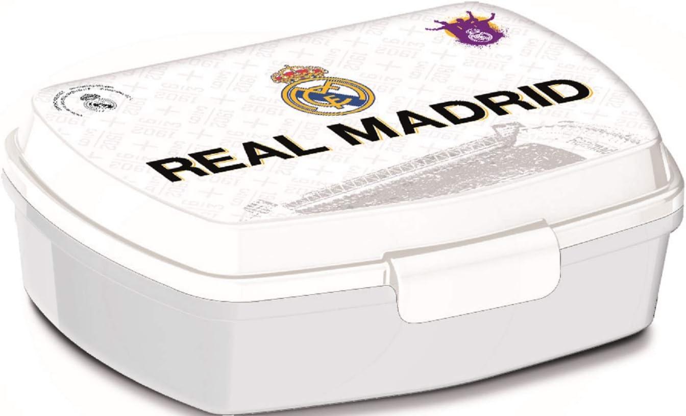 ALMACENESADAN 2531; Sandwichera Rectangular Multicolor Real Madrid CF; Producto de plástico; NO BPA;