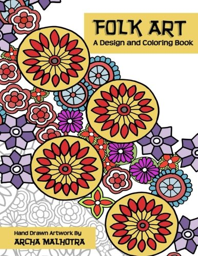 Folk Art : A Design and Coloring Book