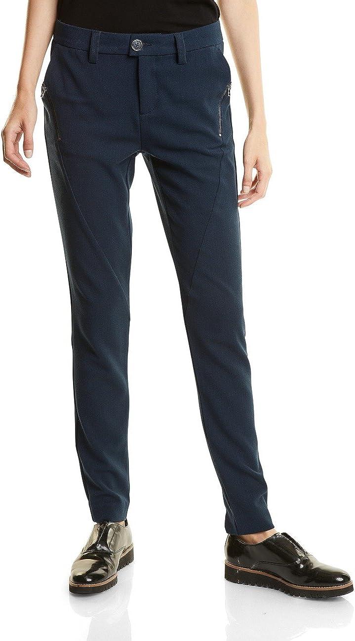 Street One Melli Heringbone Casualfit Slimleg Pantalones para Mujer
