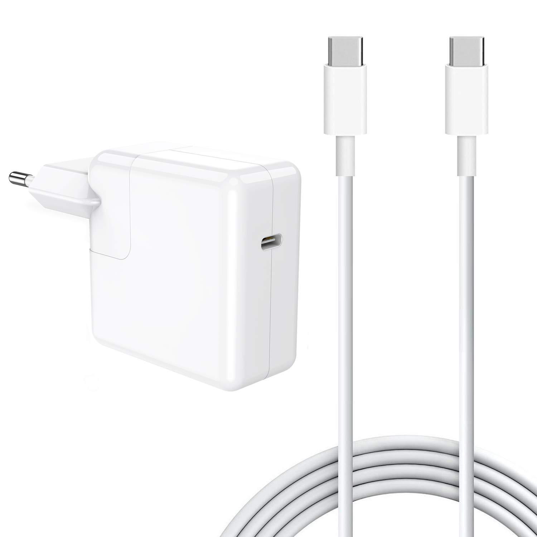 SIXNWELL 30W Cargador, Adaptador de Corriente USB C Compatible con Mac Book/Air Charger (29W) 2018Late, Samsung Galaxy S8 / Note 8, LG G5, Nexus, HTC ...