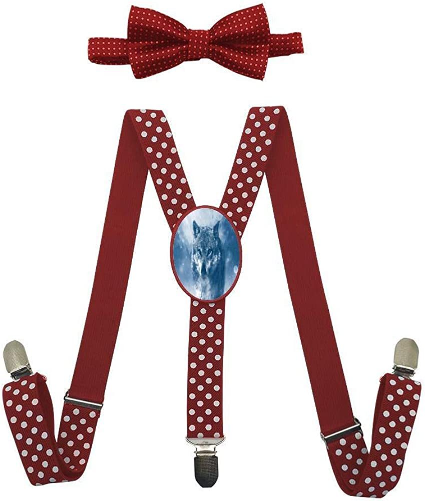 Wandering in The Snow Childrens Fashion Adjustable Y-Type Suspension Belt Suit