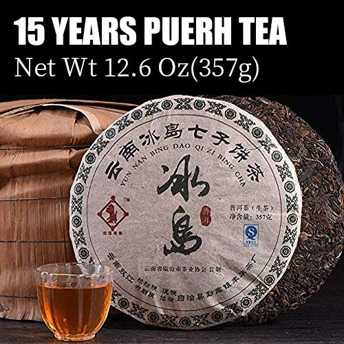 - Raw Puerh Tea (120-180 cups) Pu erh tea, Yunnan Pu-erh tea,Organic Iceland Old Tree Tea,Original Taste Spring Tea,Mellow Puerh Tea Cake,Loose Leaf Yunnan Pu'er tea compressed in a Tea Cpe,12.6 ounce