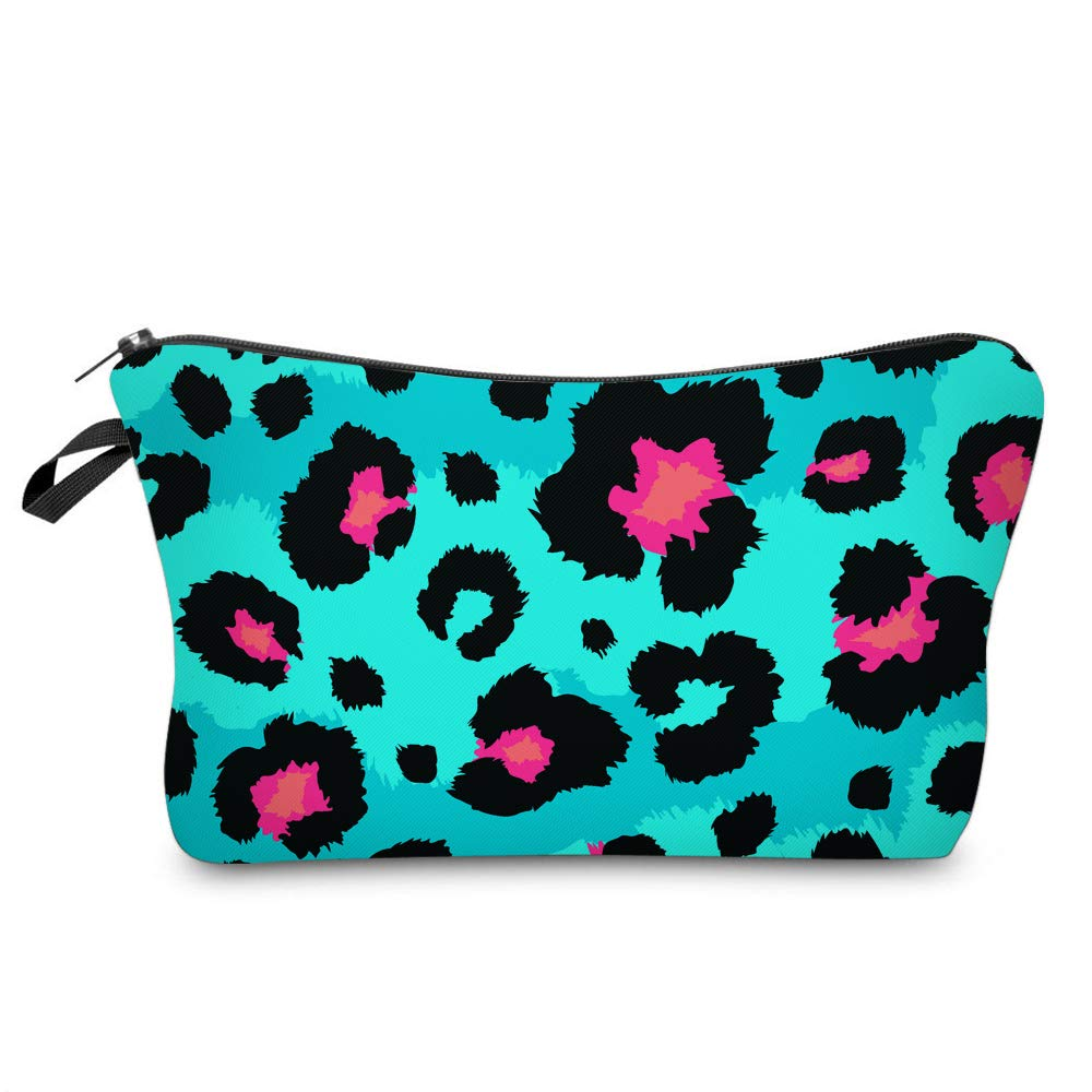 Cosmetic Bag for Women,Loomiloo Adorable Roomy Makeup Bags Travel Waterproof Toiletry Bag Accessories Organizer Liama Gifts (Leopard Print 51488)