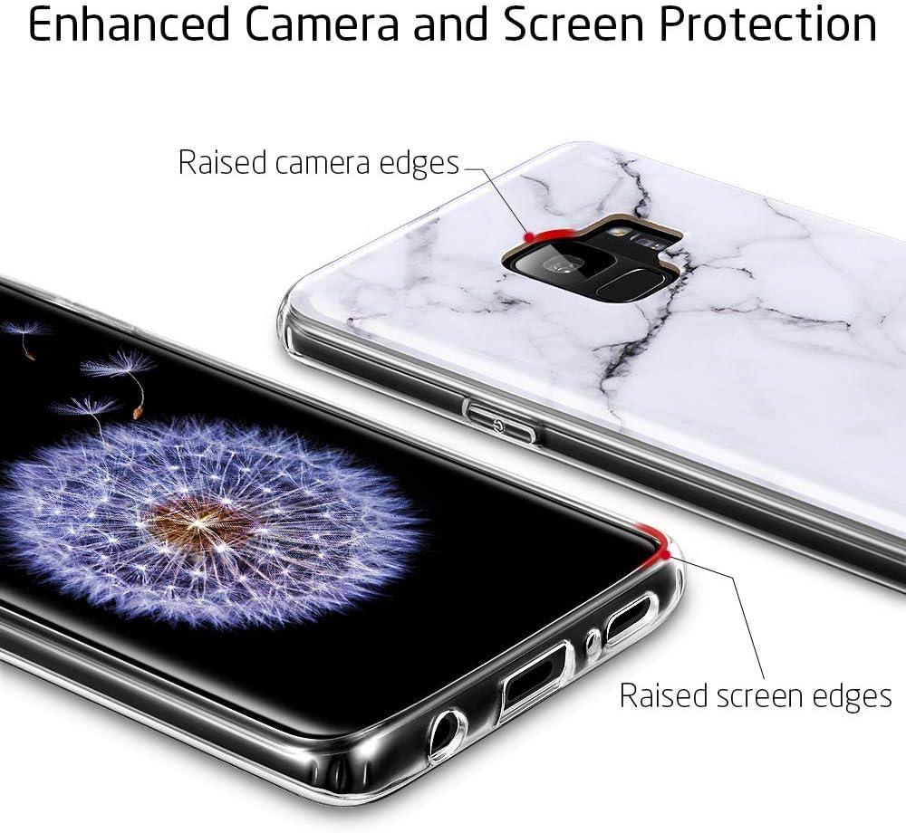 Galaxy S9 Marbre Coque, ESR TPU souple [Marbre Motif] Shell Skin ...