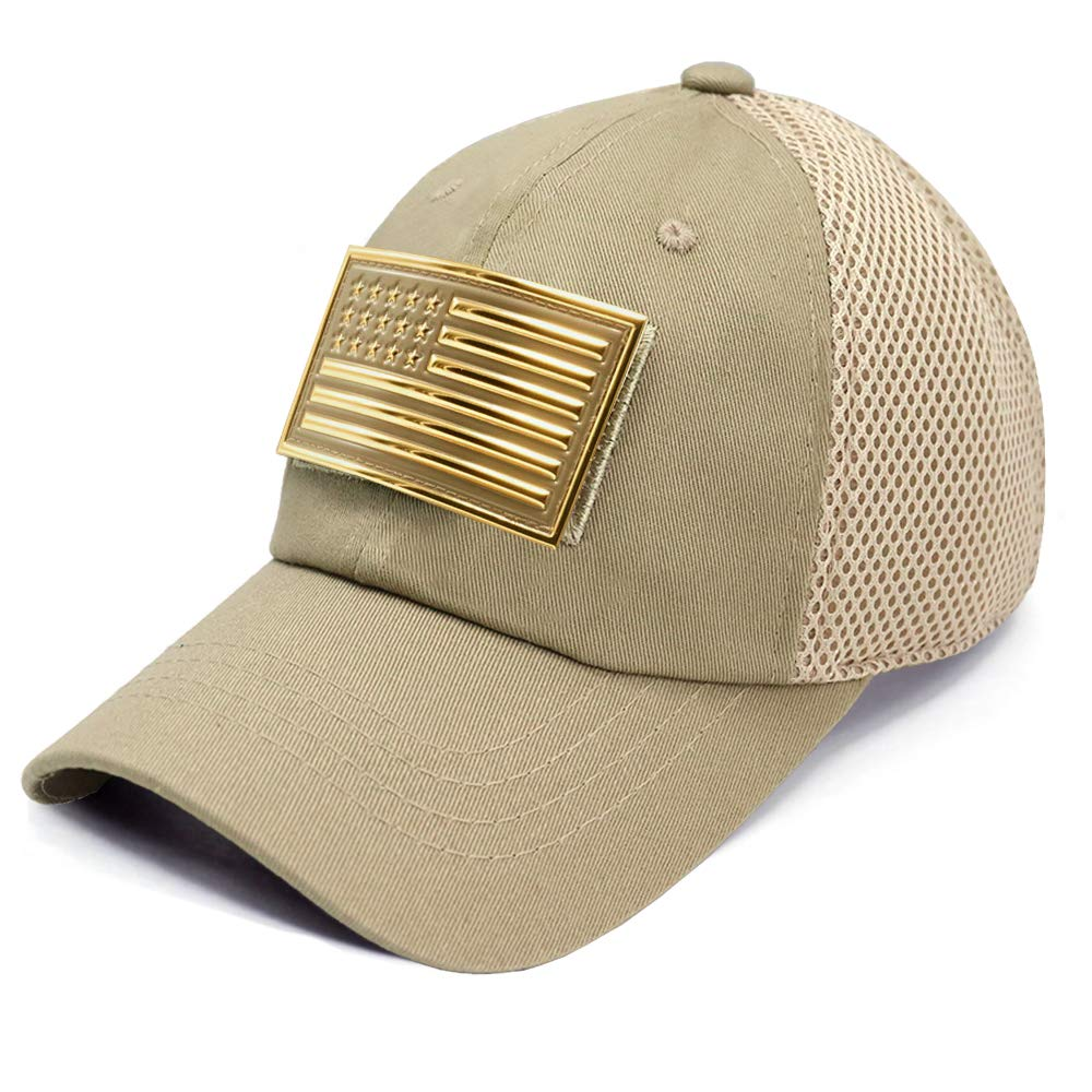 Amazon.com  USA American Flag 3D Chrome Patch Tactical Hat Mesh Back  Adjustable Baseball Cap  Clothing 58e36569334