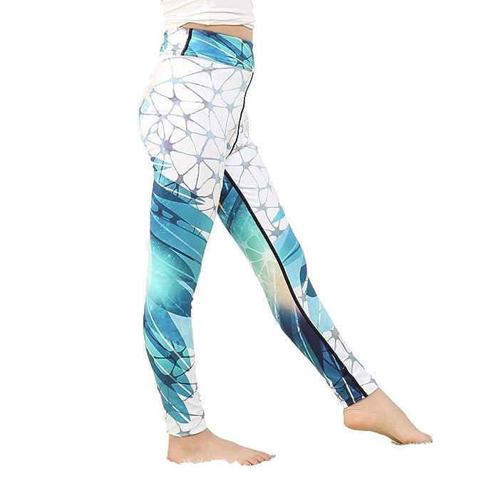 Hellomiko Pantalones de Yoga con Estampado de niñas ...
