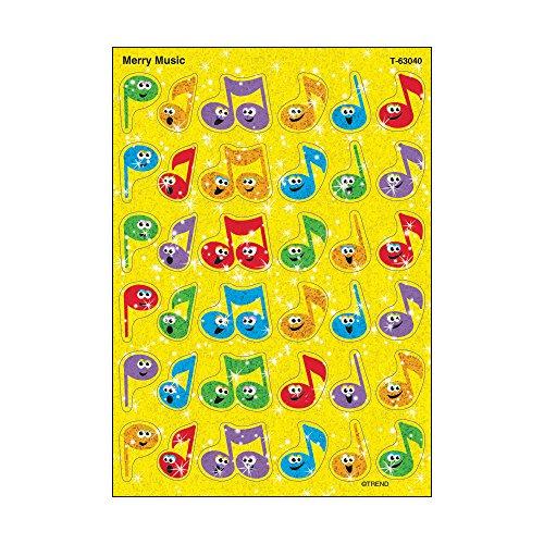 Trend Enterprises Inc. Merry Music Sparkle Stickers, 72 ct