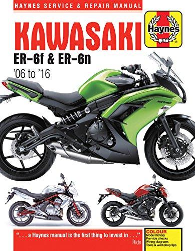 2006-2016 Kawasaki Ninja EX ER 650 650R ER6 ER6N HAYNES REPAIR MANUAL ()