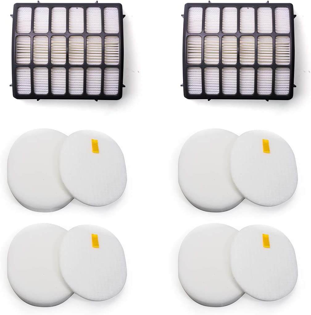 YOKYON Felt and Foam Hepa Filters Replacement Kit for Shark Navigator Professional Upright Vacuum NV70 NV71 NV80 NV90 NV95 NVC80C UV420,Part XHF80 & XFF80