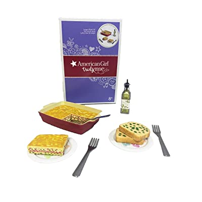 """American Girl Truly Me Lasagne Dinner Set for 18"""" Dolls: Toys & Games"""