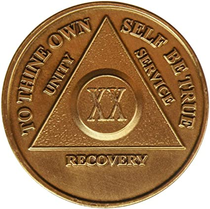 Alcoholic 2 Year Recovery One Day Chip-Medallion Coin Medal Token AA Anonymous