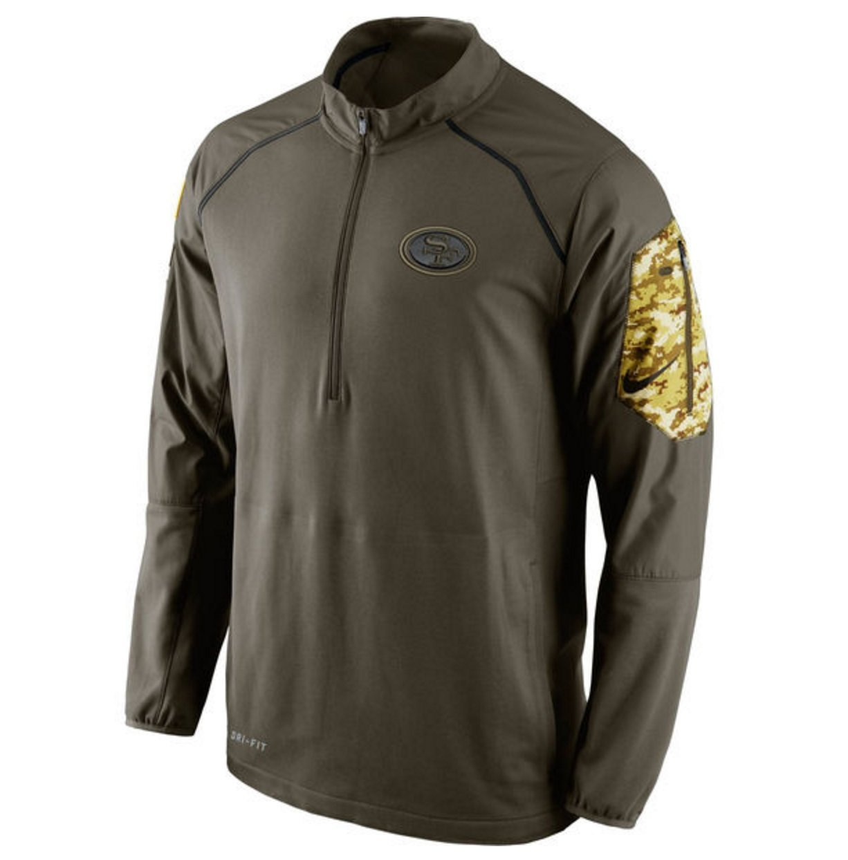 nike 1 4 zip pullover. amazon.com : san francisco 49ers 2015 nfl salute to service men\u0027s nike hybrid 1/4 zip pullover jacket (x-large) sports \u0026 outdoors 1 4 n