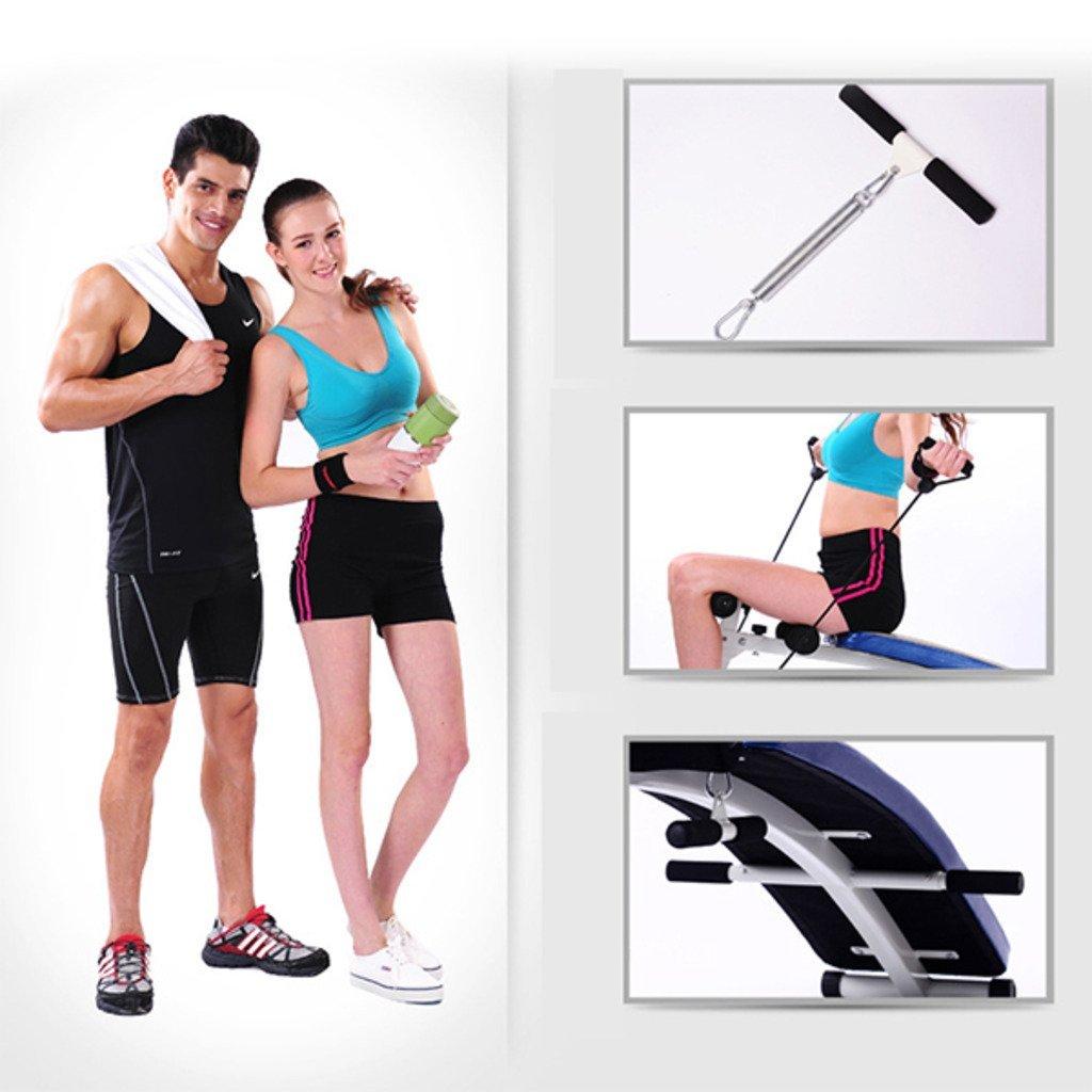 Rhegeneshop Fitness Gym 1.4M Adjustable Sit up Bench Board+Pull Rope Spring Booster