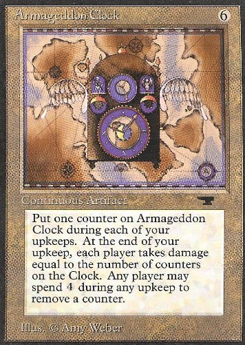 Magic: the Gathering - x4 (cards)--Armageddon Clock - Antiquities