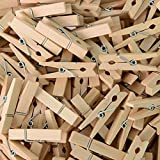 aHeemo Mini Clothespins, Mini Natural Wooden