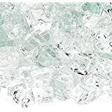 American Fireglass 10-Pound Fire Glass with Fireplace Glass and Fire Pit Glass, 1/2-Inch, Clear