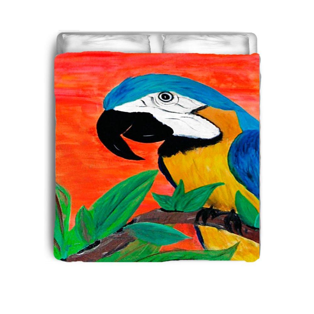 Parrot Head Art Bed Comforter From Art (Toddler 42 x 58)