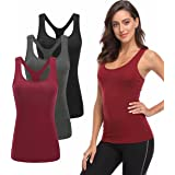 TELALEO 1/3/5 Pack Workout Tank Tops for Women, Athletic Racerback Sports Tank Tops, Compression Sleeveless Dry Fit Shirts