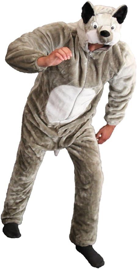 Deluxe Disfraz de Lobo Disfraz de Lobo de Felpa de Lobo Disfraz de ...