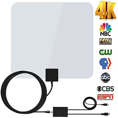 Review 60-80Miles TV Antenna Amplified