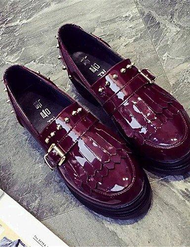 5 Cn37 Eu37 Eu39 Mujer Black Uk6 exterior us6 A Cn39 5 7 semicuero creepers Zapatos Uk4 Moda Casual La Gyht De Black plataforma Bermellón negro sneakers Zq us8 5 fSpqnp